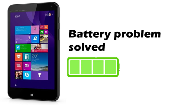 HP Stream Windows tablet battery life solved